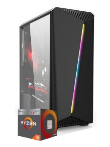Pc Gamer Amd, R5 2400G, Radeon Vega 11 Graphics, 8gb de ram, ssd 240gb, fonte 400w