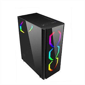 Gabinete Gamer Mid Liketec Streamer RGB, Lateral/Frontal em Vidro Temperado