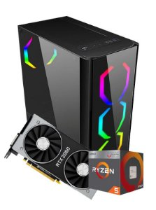 Pc Gamer Amd, R5 2400G, Rtx 2060 6gb, 8gb de ram, Ssd 240gb, fonte 500w