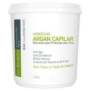 Max Illumination Argan Reconstrução Profunda FOR BEAUTY 250g