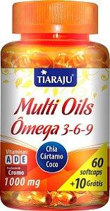 Multi Oils Ômega 3, 6 e 9 - 70 cáps (Tiaraju)