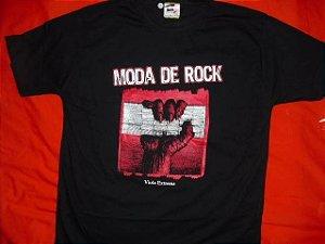 Camiseta Preta Moda de Rock (P, M, G, GG e XG)