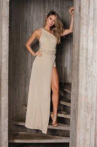 VS0150 - Vestido longo trançado