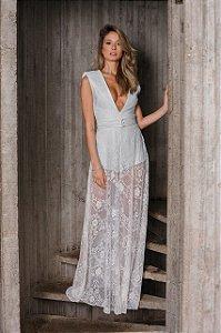 Vs0108 - vestido tiras decote longo