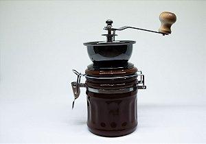Moedor de café de porcelana marrom