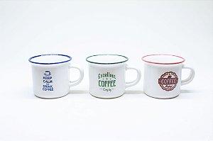 Caneca de porcelana para café 70ml
