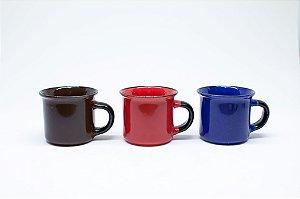 Caneca de porcelana para café colorida 70ml
