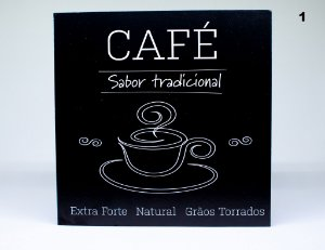 Placa decorativa de café frases
