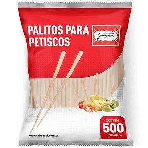 PALITO  PARA HAMBÚRGUER GOURMET E PETISCOS - 9CM - COM 500 UNIDADES -  GABOARDI