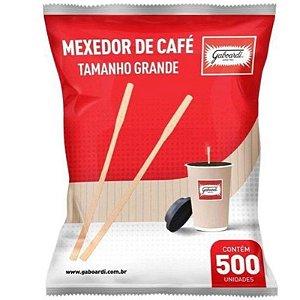 PALITO  PARA HAMBÚRGUER  GOURMET E MEXEDOR DE CAFÉ - 15CM - COM 500 UNIDADES -  GABOARDI