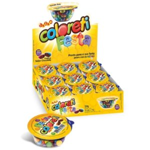 CONFEITO COLORETI   CHOCOLATE - 324G - JAZAM