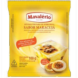 PÓ PARA PREPARO DE SOBREMESAS - SABOR MARÁCUJA - 100G - 01 UNIDADE - MAVALÉRIO