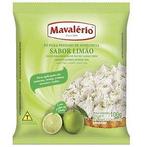 PÓ PARA PREPARO DE SOBREMESAS - SABOR LIMÃO - 100G - 01 UNIDADE - MAVALÉRIO
