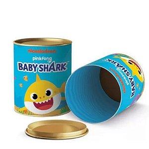 LATA PARA LEMBRANCINHAS 11X9 CM - FESTA BABY SHARK - CROMUS