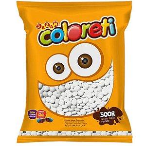 CONFETE COLORETI DE CHOCOLATE BRANCO DE 500G - JAZAM