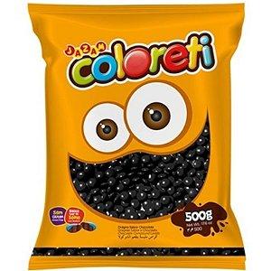 CONFETE COLORETI DE CHOCOLATE PRETO  500G - JAZAM