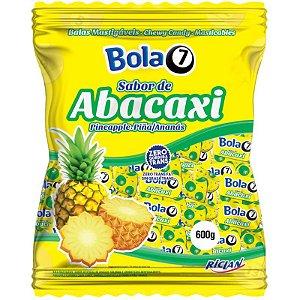 BALA MASTIGÁVEL SABOR  ABACAXI BOLA7 - 600G COM APROX 100 UNIDADES - RICLAN