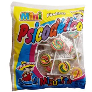 PIRULITO PSICODÉLICO MIGUELITO MINI - 200G COM APROX. 50 PIRULITOS - MIGUELITO