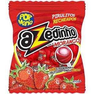 PIRULITO AZEDINHO SABOR  MORANGO POP MANIA -  600G COM 50 UNIDADES - RICLAN
