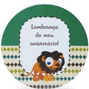 ADESIVO PARA LEMBRANCINHA SAFARI LEÃO - 20 UNIDADES - DUSTER FESTAS