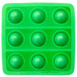 APLIQUE DECORATIVO POP IT FIDGET TOYS 3D - VERDE - REF 123023 - COM 01 UNIDADE - PIFFER