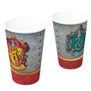 COPO DE PAPEL FESTA HARRY POTTER 200ML - 8 UNIDADES - FESTCOLOR FESTAS