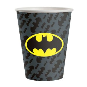 COPO DE PAPEL FESTA BATMAN 200ML - 08 UNIDADES - FESTCOLOR