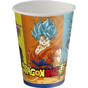 COPO DE PAPEL FESTA DRAGON BALL 200ML - 8 UNIDADES - FESTCOLOR