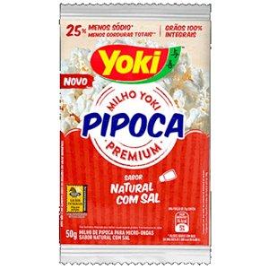 PIPOCA PARA MICRO-ONDAS SABOR NATURAL COM SAL - 50G - YOKI