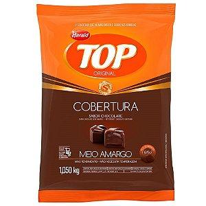 COBERTURA DE CHOCOLATE MEIO AMARGO TOP - GOTAS 1,050KG HARALD