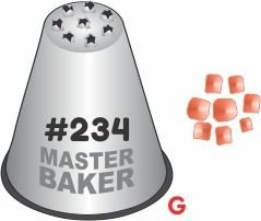 BICO DE CONFEITAR INOX CHUVERÃO #234 TAM G COD 2261 UN MASTER BAKER
