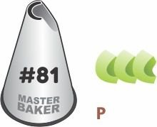 BICO DE CONFEITAR INOX ESPECIALIDADE #81 TAM P COD 2251 UN MASTER BAKER