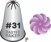 BICO DE CONFEITAR INOX PITANGA FECHADA #31 TAM P COD 2247 UN MASTER BAKER