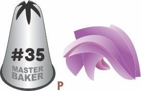 BICO DE CONFEITAR INOX PITANGA FECHADA #35 TAM P COD 2245 UN MASTER BAKER