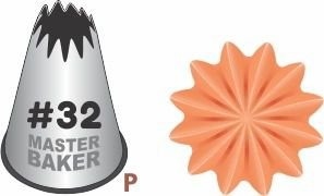 BICO DE CONFEITAR INOX PITANGA ABERTA #32 TAM P COD 2236 UN MASTER BAKER