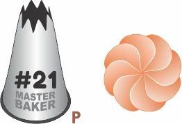 BICO DE CONFEITAR INOX PITANGA ABERTA #21 TAM P COD 2235 UN MASTER BAKER