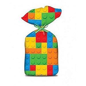 SACOLA SURPRESA FESTA  LEGO BLOQUINHOS - 08 UNIDADES - JUNCO