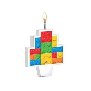 VELA DE ANIVERSÁRIO FESTA LEGO - JUNCO