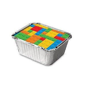 TAMPINHA PARA MARMITA FESTA LEGO - 08 UNIDADES - JUNCO