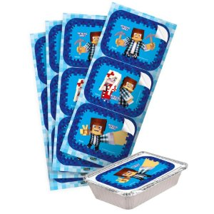 ADESIVO RETANGULAR AUTHENTIC GAMES 12 UNIDADES - FESTCOLOR