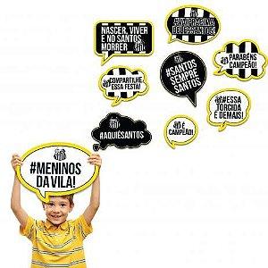 KIT PLACAS DECORATIVAS FESTA SANTOS 09 UNIDADES - FESTCOLOR