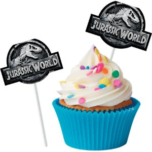 ENFEITE PALITO PICK PARA DOCES JURASSIC WORLD 08 UNIDADES - FESTCOLOR