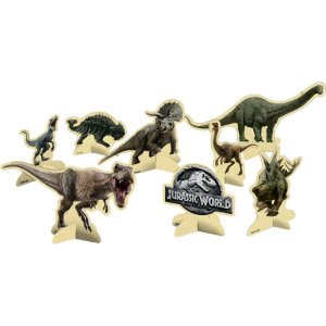 ENFEITE DE MESA PERSONAGENS JURASSIC PARK WORLD 08 UNIDADES - FESTCOLOR