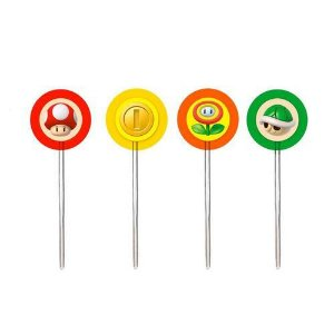 PICK DECORATIVO SUPER MARIO BROS 12 UNIDADES - CROMUS