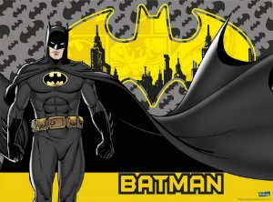 PAINEL DE TNT DECORATIVO FESTA BATMAN - FESTCOLOR