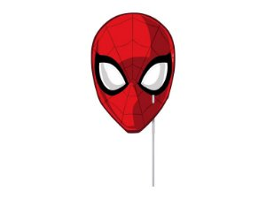 MASCARA COM VARETA  PERSONAGENS ULTIMATE SPIDER MAN - 10 MÁSCARAS/10 VARETAS- REGINA FESTAS