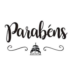 "TRANSFER PARA BALÃO - PARABÉNS BOLO PRETO G - 01 UNIDADE - IDEAL PARA BALÕES ESFERA 20"" A 36"" - CROMUS BALLOONS"