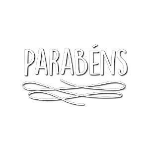 """TRANSFER PARA BALÃO  - PARABÉNS BRANCO G - 20"""" A 36"""" -  CROMUS BALLOONS"""