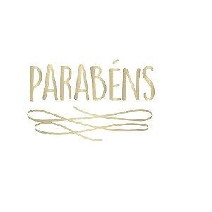 """TRANSFER PARA BALÃO PARABÉNS OURO P  - 12"""" A 18"""" CROMUS BALLOONS"""