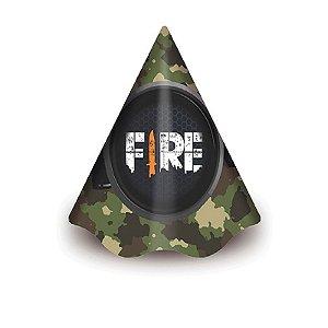 CHAPÉU DE ANIVERSÁRIO FESTA FREE FIRE - COM  8 UNIDADES -  JUNCO